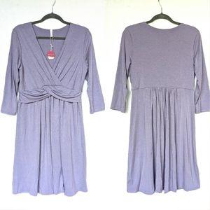 PINKBLUSH v-neck twist belt maternity dress